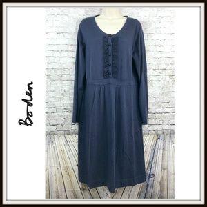 Boden Purple Bib Front Knitted Sheath Dress